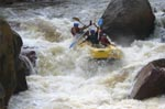 Rafting Selangor RIver 2nd Canyon drop